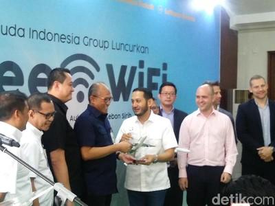Garuda Indonesia Grup Luncurkan Free WiFi di Atas Pesawat
