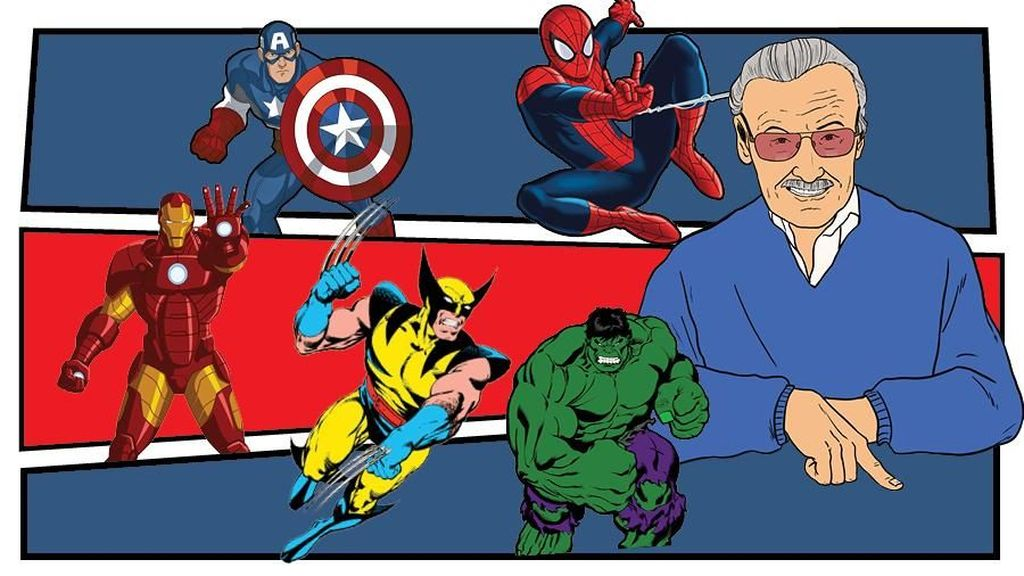 Stan Lee dan 5 Hero Marvel