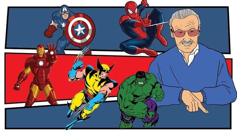 Stan Lee Jadi Spider di Komik Spider-Geddon #5 Foto: dok detikHOT