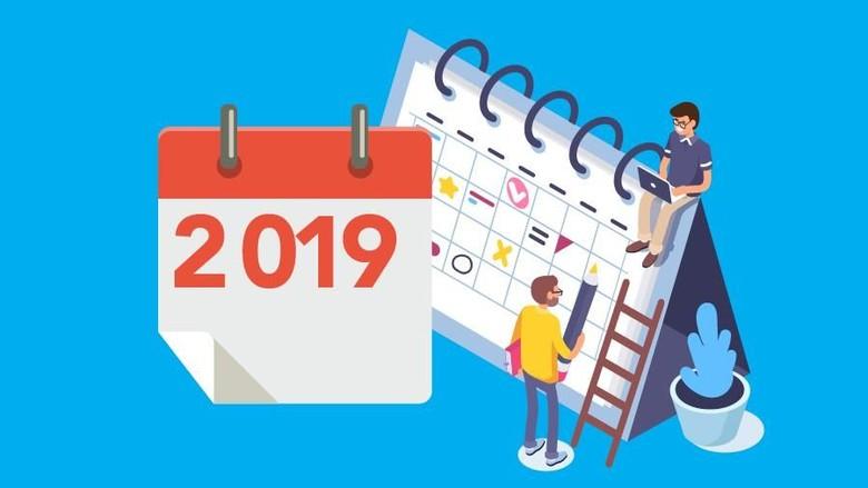 Ilustrasi libur tahun 2019 (Mindra Purnomo/detikcom)