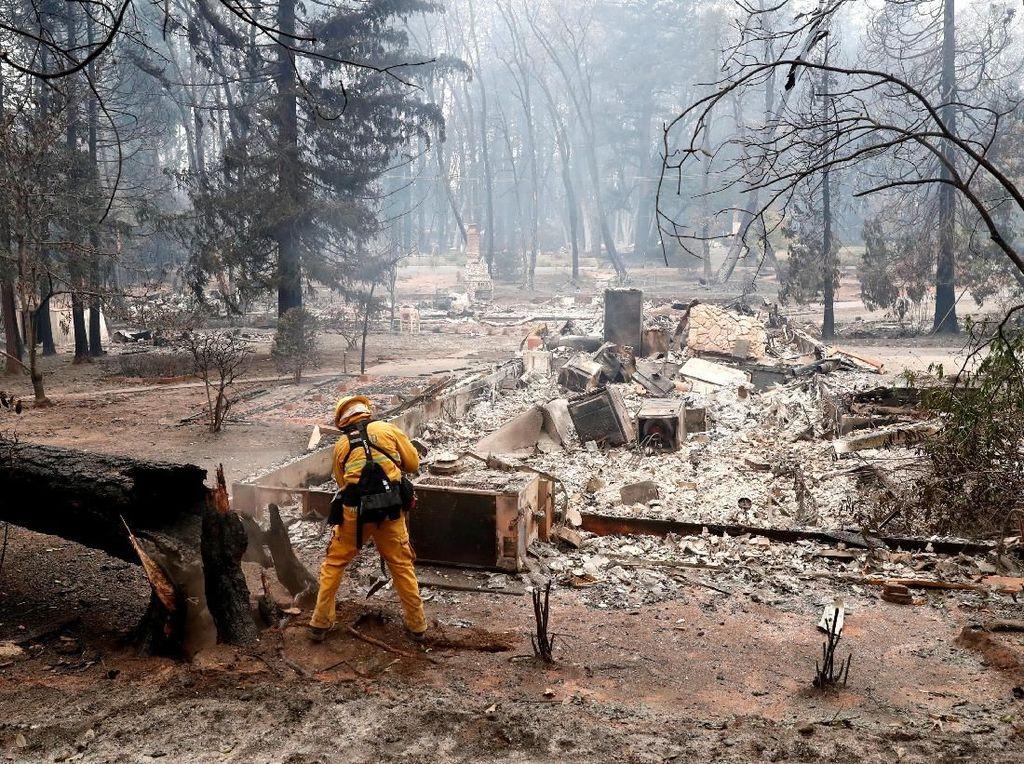 Ngeri! Ini Jejak Kebakaran Hutan Mematikan di California