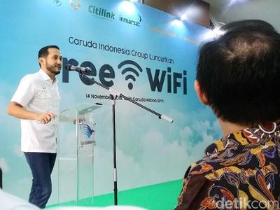 Begini Cara Free WiFi Hadir di Pesawat Garuda dan Citilink