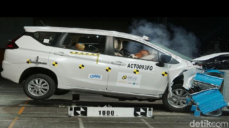 Crash test Xpander (Foto: ASEAN NCAP)