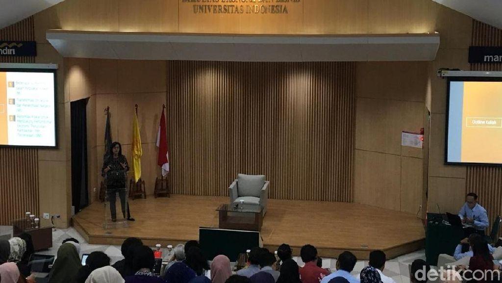 Sri Mulyani Beri Kuliah Umum Mahasiswa UI