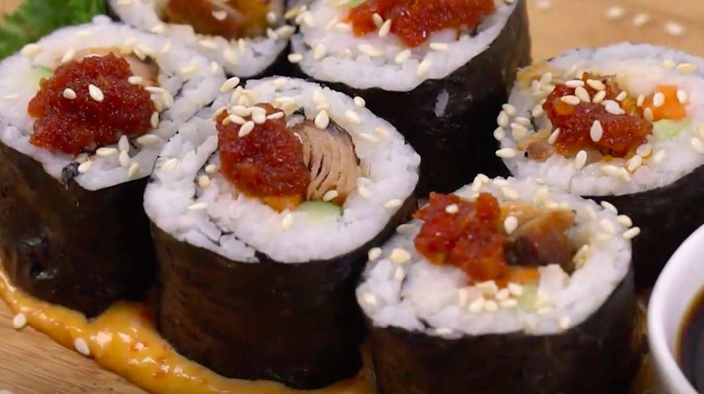 Resep Sushi Tongkol. Gampang Dibuat Bahannya Mudah Didapat