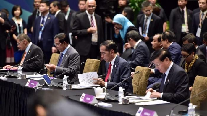 Presiden Jokowi di perundingan RCEP di Singapura