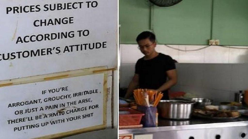 Pengunjung yang Kasar dan Tak Sopan di Restoran Ini Akan Dikenai Denda