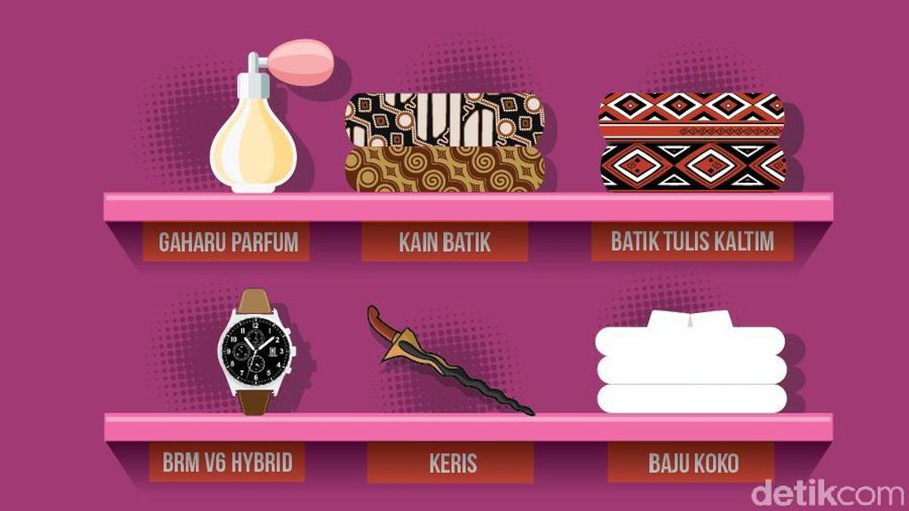 Jam Tangan Mewah hingga Keris Sitaan KPK Dilelang Online