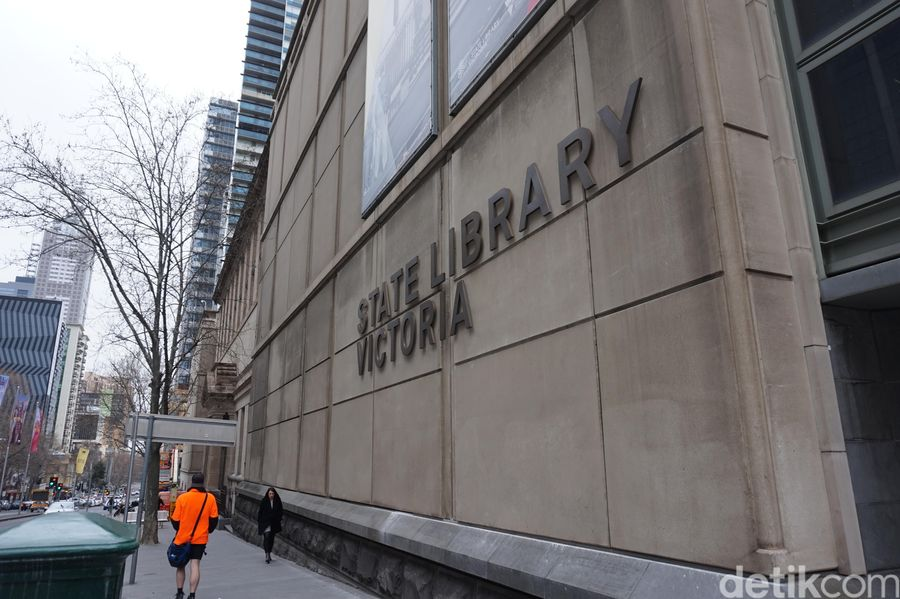 State Library Victoria adalah perpustakaan umum pertama di Australia dan salah satu perpustakaan gratis tertua di dunia. Dulu dibuka tahun 1856 dengan nama Melbourne Public Library (Shinta/detikTravel)