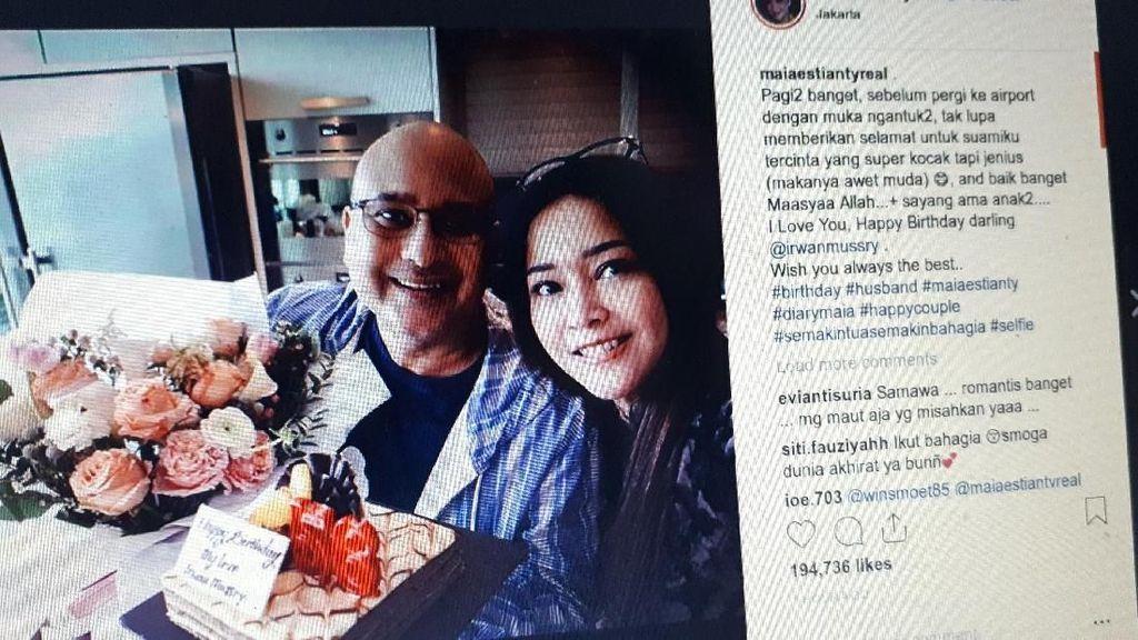 Kejutan Manis Maia Estianty di Hari Ultah ke-56 Suami