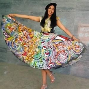 Gaya Alya, Wakil Indonesia di Miss World 2018 yang Pakai Gaun Buatan Sendiri
