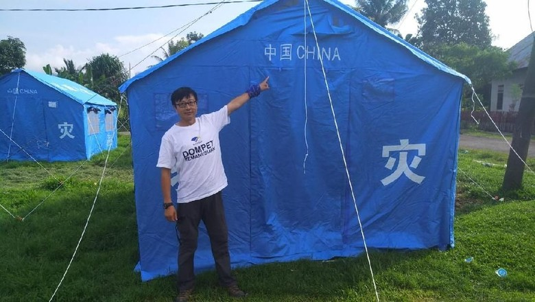 Cerita Lie Terbang dari China untuk Menolong Korban Gempa Donggala
