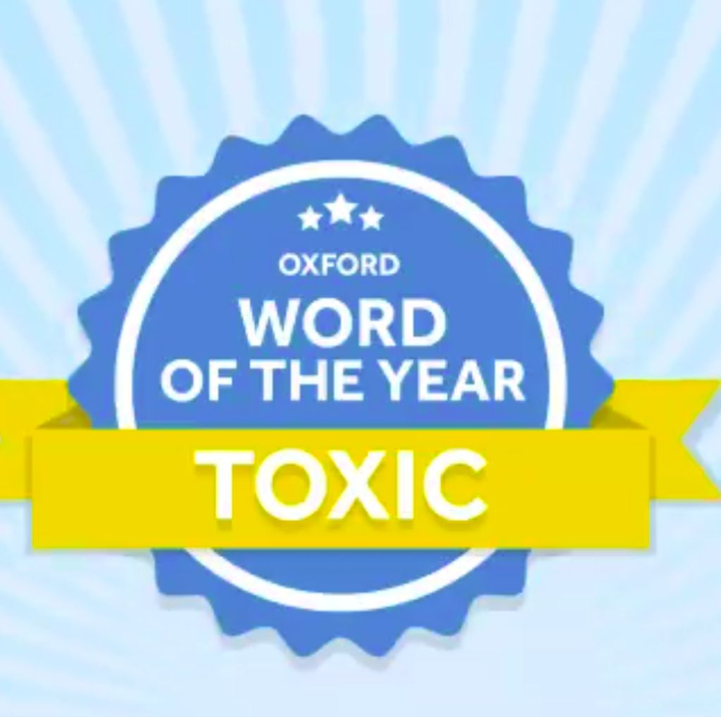 Toxic Dinobatkan Jadi Word of The Year 2018 Kamus Oxford