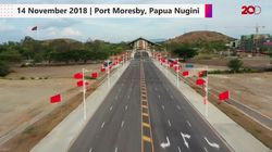 Melihat Jalan Mulus di Papua Nugini Buatan China