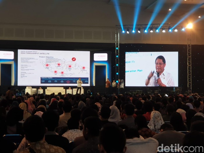 Menkominfo Rudiantara di Innocreativation Surabaya. Foto: Adi Fida Rahman/detikINET