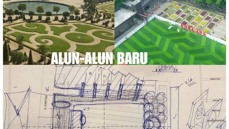 Rancangan alun-alun Cirebon dari Ridwan Kamil (@ridwankamil/instragram)