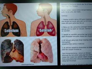 Viral! Ramuan Pembersih Paru-paru bagi Perokok, Benar Bisa Nggak Sih?