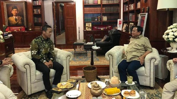 Bertemu, Prabowo Semangati Daud Yordan