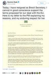Menteri Brexit Inggris Mundur, Ini Isi Surat Resign-nya