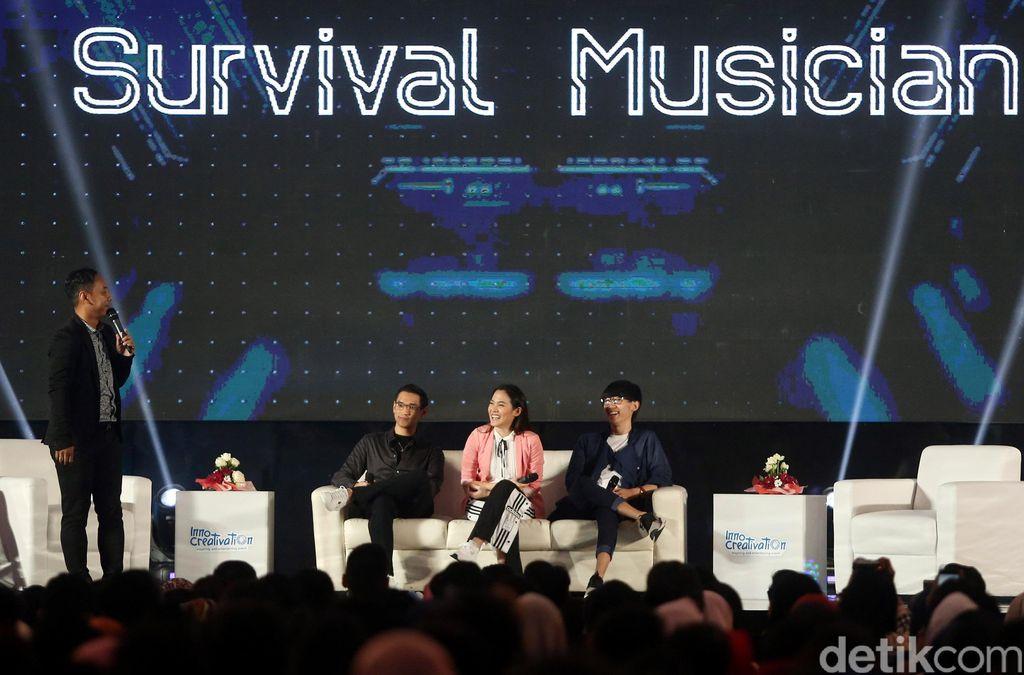 Sejumlah musisi papan atas Indonesia hadir dalam gelaran Innocreativation yang diselenggarakan di Grand City Convention Hall, Surabaya, Kamis (15/11/2018).