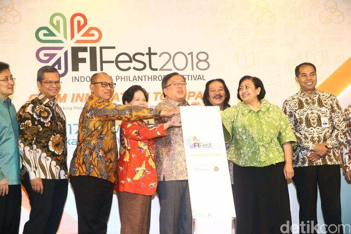 Bambang Brodjonegoro membuka Filantropi Festival (FiFest) 2018.