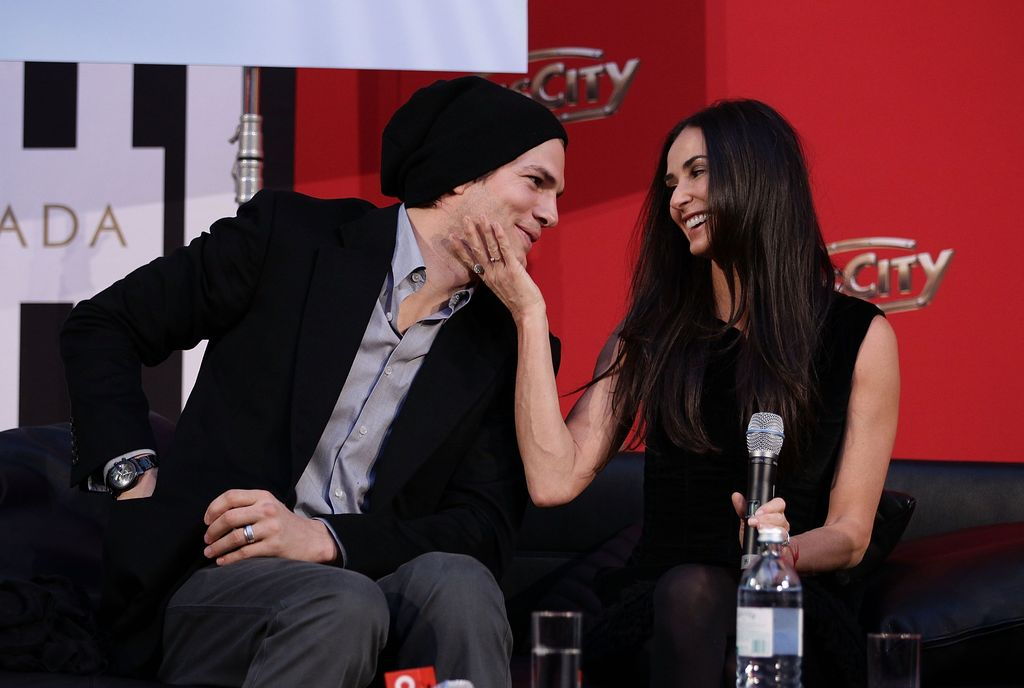 PASCHING, AUSTRIA - OCTOBER 29:  Demi Moore and Ashton Kutcher attend the photo call for their Charity Gala at PlusCity on October 29, 2010 in Pasching near Linz, Austria.  (Photo by Andreas Rentz/Getty Images)