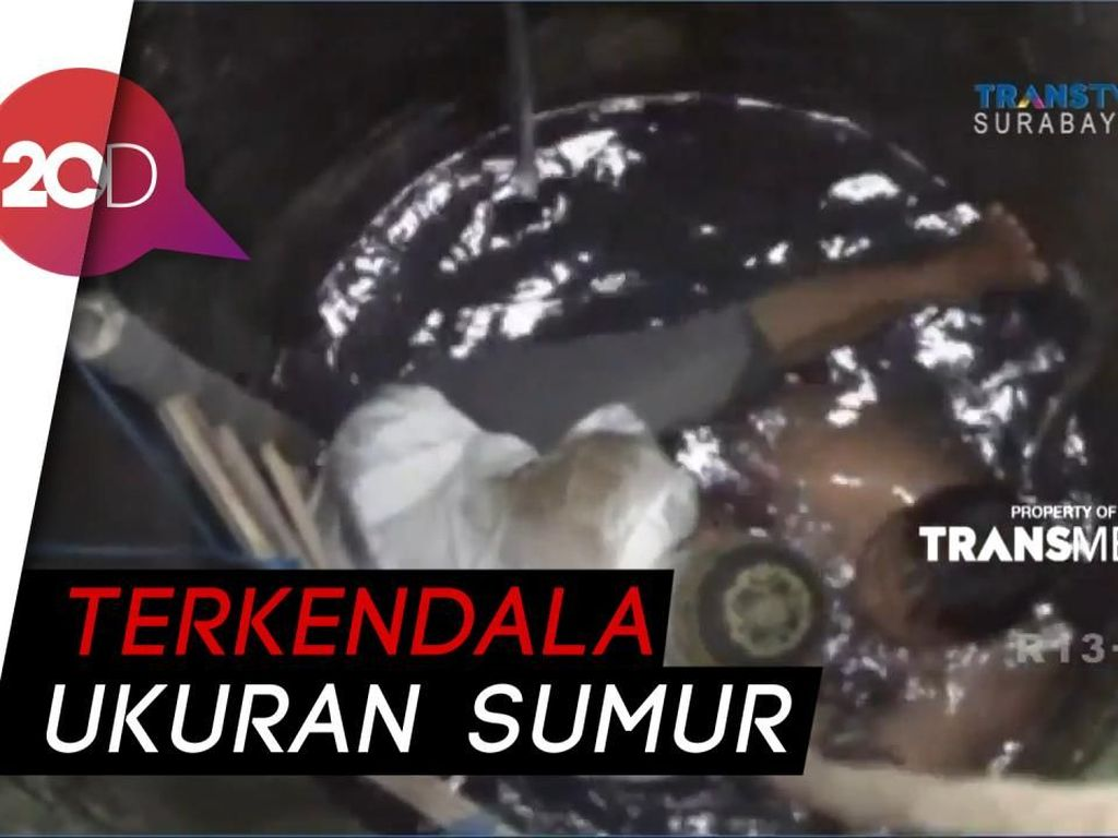 Dramatis! Evakuasi Pria Besar dari Sumur di Ngawi