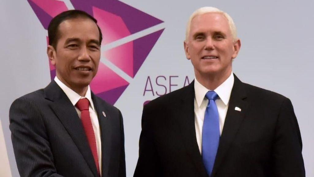 Bertemu Wakil Presiden AS, Jokowi Bahas Kerja Sama di Tiga Bidang