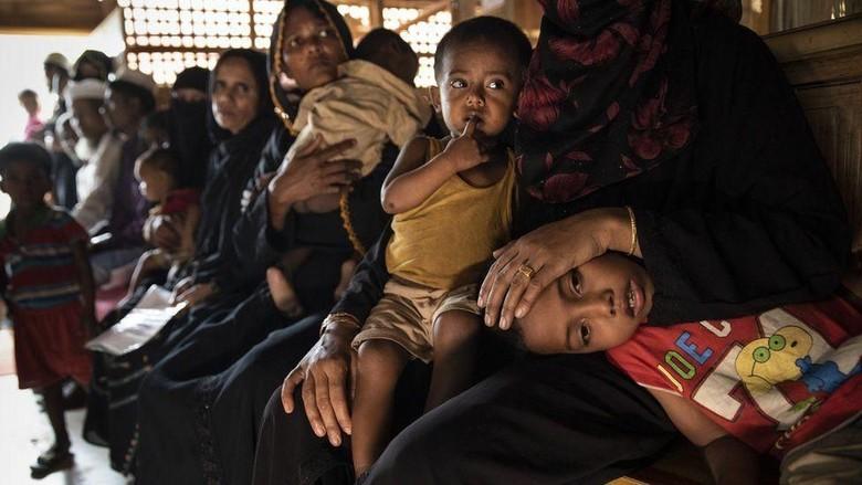 Takut Dipulangkan, Puluhan Warga Rohingya di India Kabur ke Bangladesh