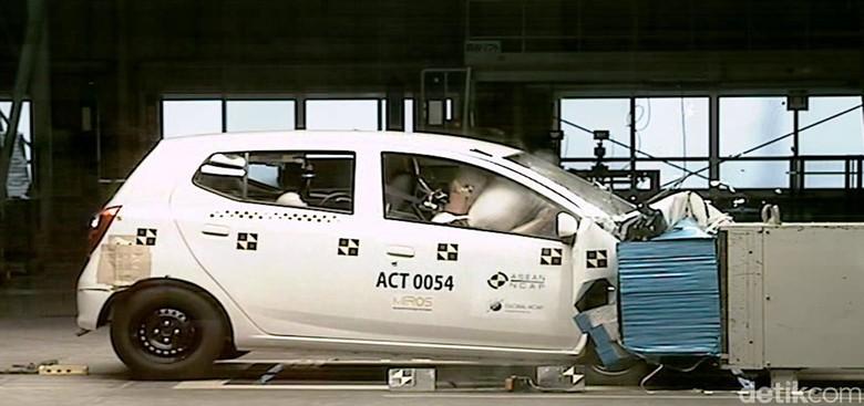 Crash test Toyota Agya. Foto: ASEAN NCAP