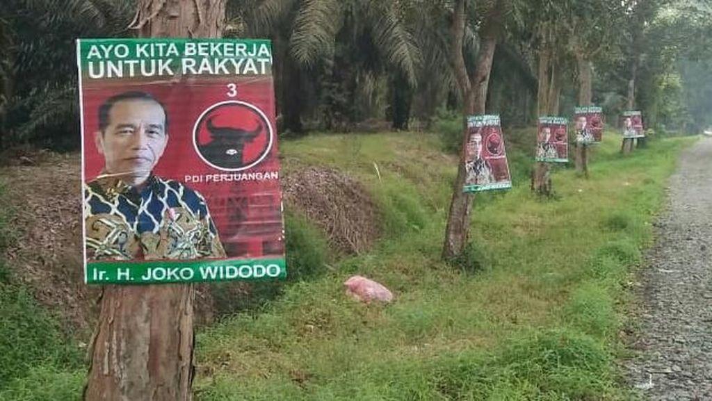 Timses Telusuri Pemasang Poster Jokowi di Medan yang Dipaku di Pohon