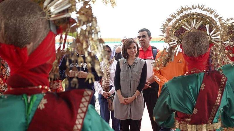 Beberapa waktu lalu Najwa Shihab berkunjung ke Sumatera Barat. Dia pun membagikan dalam Instagram kegiatannya selama di sana. (najwashihab/Instagram)