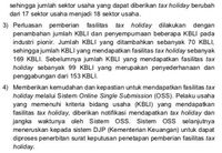 Alasan di Balik Penambahan Sektor Penerima Tax Holiday