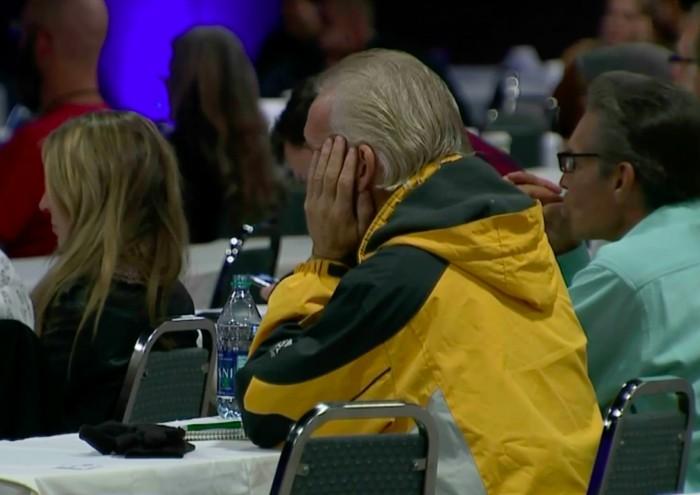 Suasana konferensi Bumi datar. Foto: Denver Post