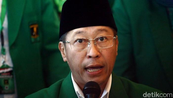 Ketua Umum PPP versi Muktamar Jakarta, Humphrey Djemat (Foto: Grandyos Zafna/detikcom)