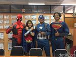 Wah, Ada Spiderman dan Wonder Woman Ikut Ujian di ITS