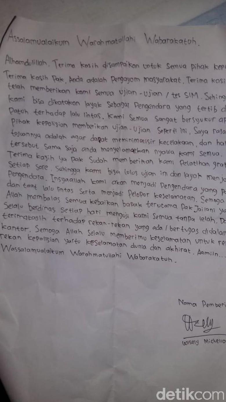 Viral, Pelajar SMA Tulis Surat ke Polisi Setelah Lulus Ujian SIM