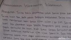 Tulis Surat untuk Polisi Setelah Lulus Ujian SIM, Ini Kata Wisely
