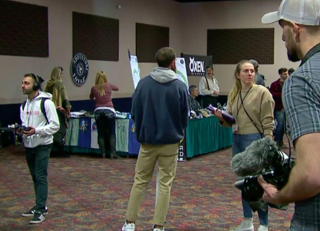 Para peserta mengikuti konferensi Bumi datar Flat Earth International 2018 Conference di Crown Plaza Airport Convention Center di Denver, Amerika Serikat. Foto: Denver Post