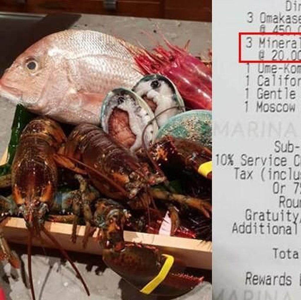 Di Resto Berbintang Michelin Ini, Harga Air Mineral Rp 212.000!