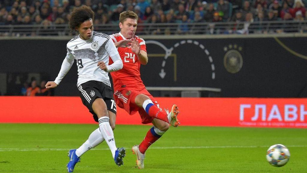 Hasil Uji Coba: Jerman Menang 3-0 atas Rusia