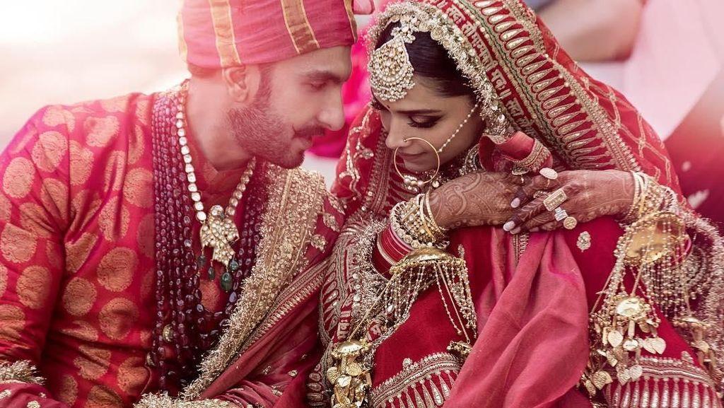 Terungkap! Foto Perdana Pernikahan Deepika-Ranveer Singh di Italia
