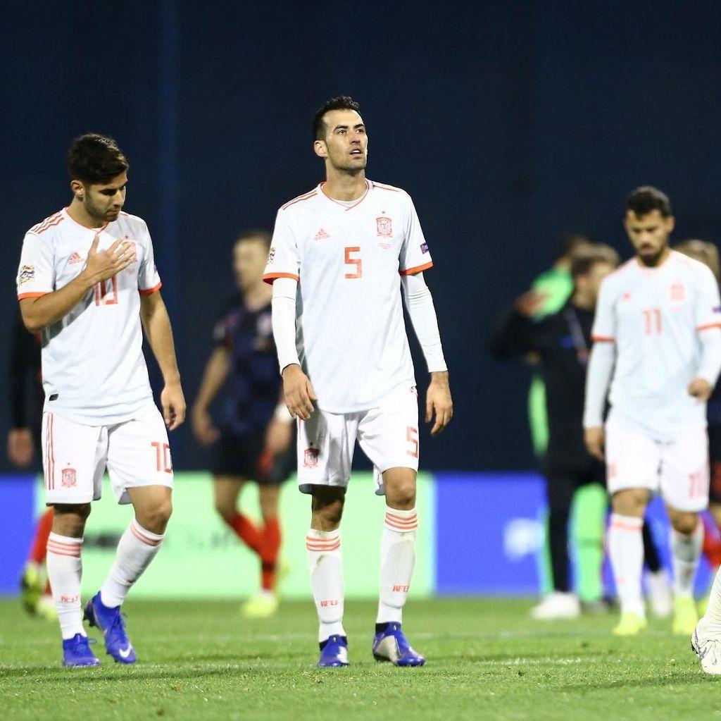 Nasib Spanyol Ditentukan Inggris dan Kroasia