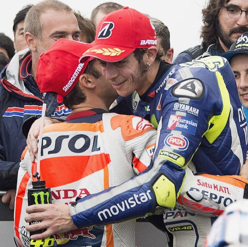 Valentino Rossi Pernah Takut pada Pedrosa