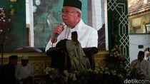 Hadiri Haul di Pasuruan, Maruf Amin Bicara Peran Ulama dan Santri