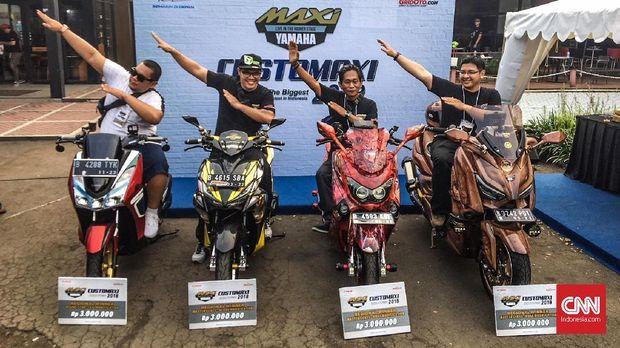 Pemenang tahap pertama CustoMaxi Yamaha 2018.
