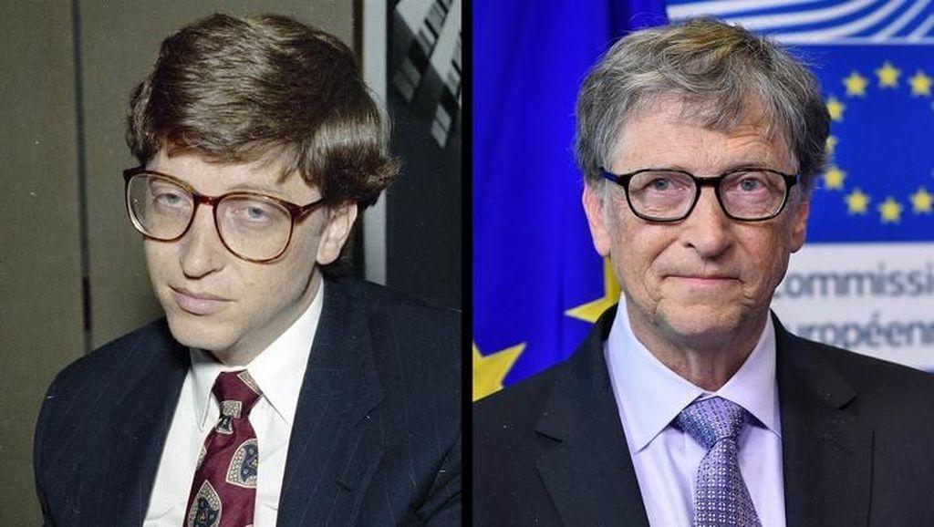 Sejak dulu, Bill Gates yang merupkan pendiri Microst ini sudah berkacamata. (Foto: Bright Side)