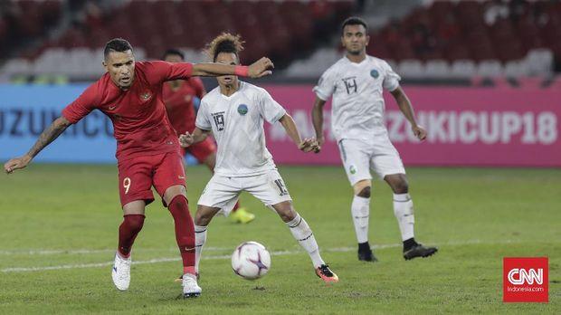 Timnas Indonesia bru menang satu kali di Piala AFF 2018.