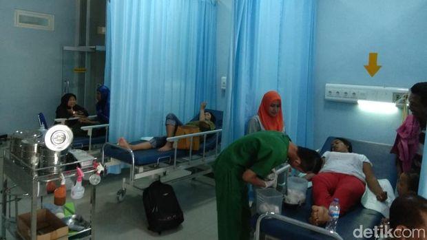 Korban yang dirawat di rumah sakit