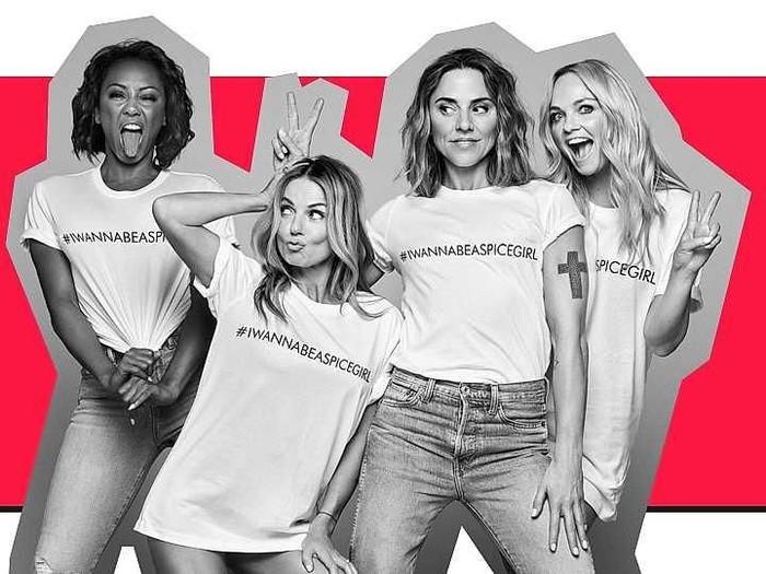 Koleksi baju edisi terbatas dengan tulisan I Wanna Be Spice Girls. Foto: Dok. Spice Girls